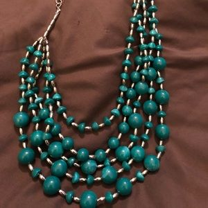 Chico's BNWT Tier necklace silver accent